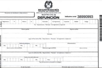 Registro civil de defuncion