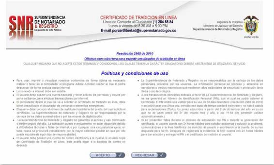 Certificado de Tradición en Línea