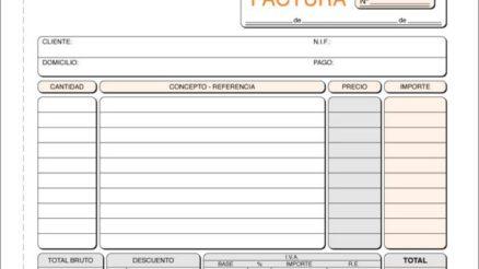 Ejemplo de Factura