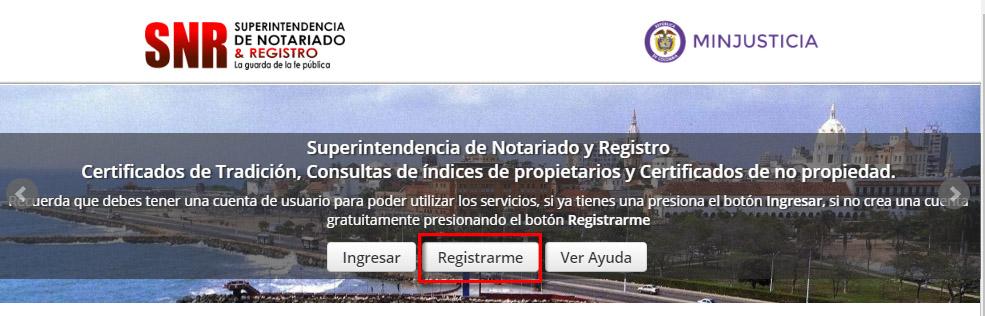 Registro en la SNR