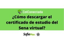 Sena virtual: Certificado de estudio