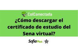 Sena virtual: Certificado de estudio