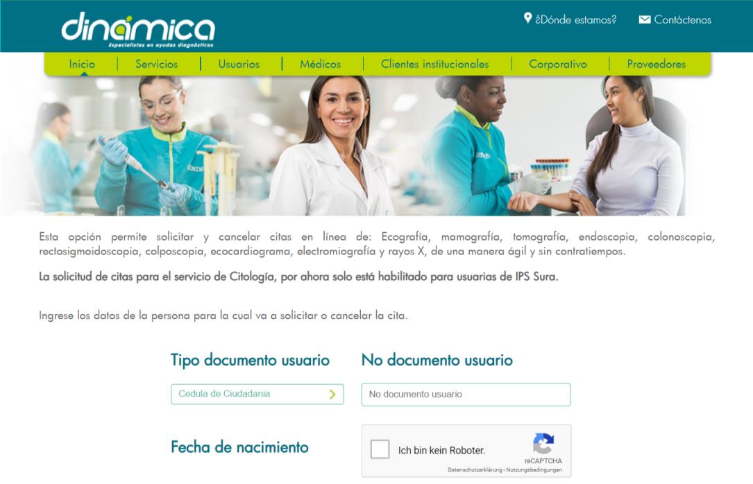 Solicitar o cancelar citas médicas en EPS SURA