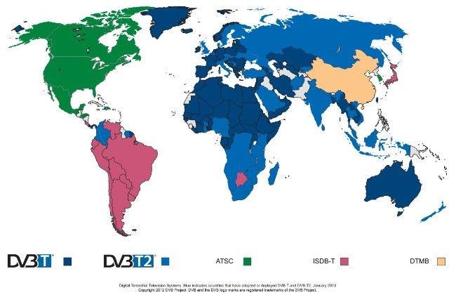 Estándares de televisión utilizados en el mundo