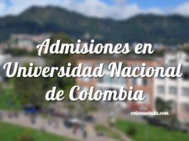 Admisiones Universidad Nacional