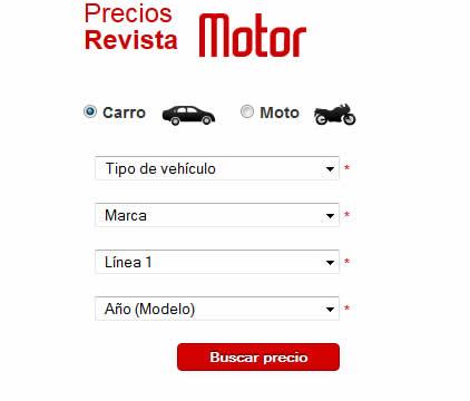 Precios de revista Motor
