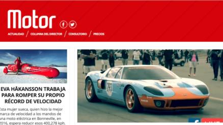 Vista previa página web Motor