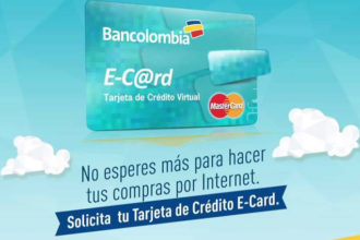 Tarjeta E-Card Bancolombia 1