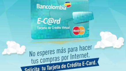 Tarjeta E-Card Bancolombia 2