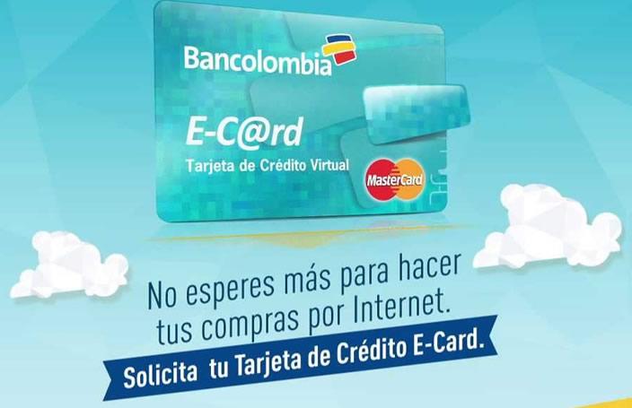Tarjeta E-Card Bancolombia 14