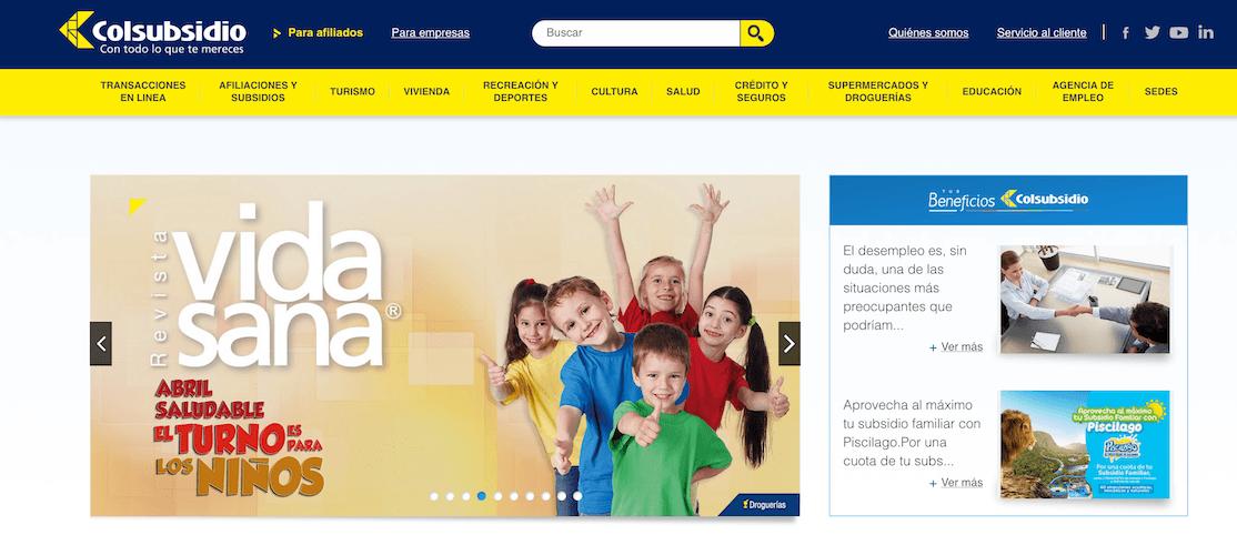 Colsubsidio: Citas por Internet y teléfonos 1