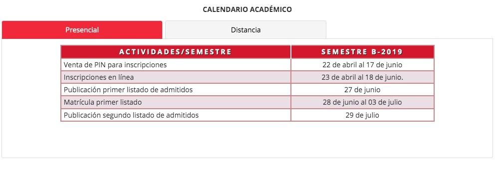Universidad del Tolima: Proceso de inscripción y admisión 1