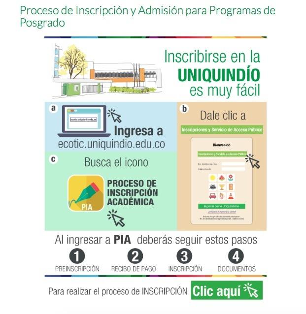 Universidad del Quindío: Admisiones e inscripción 1