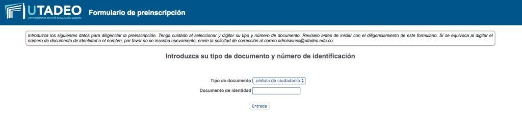 Universidad Jorge Tadeo Lozano - Inscripción 1
