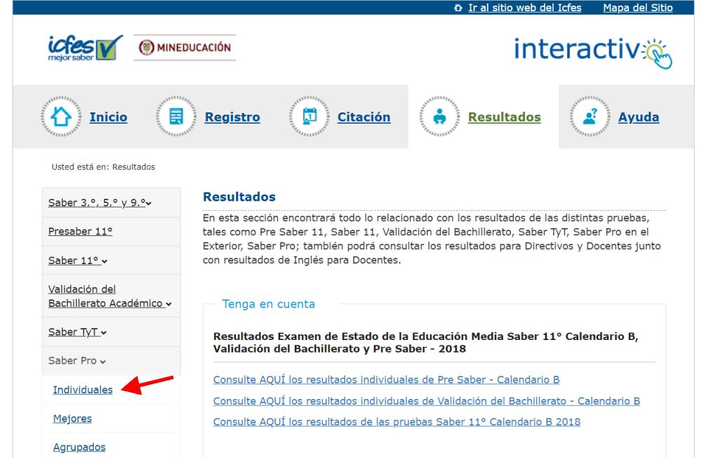 ICFES: Consultar resultados de exámenes por Internet 10