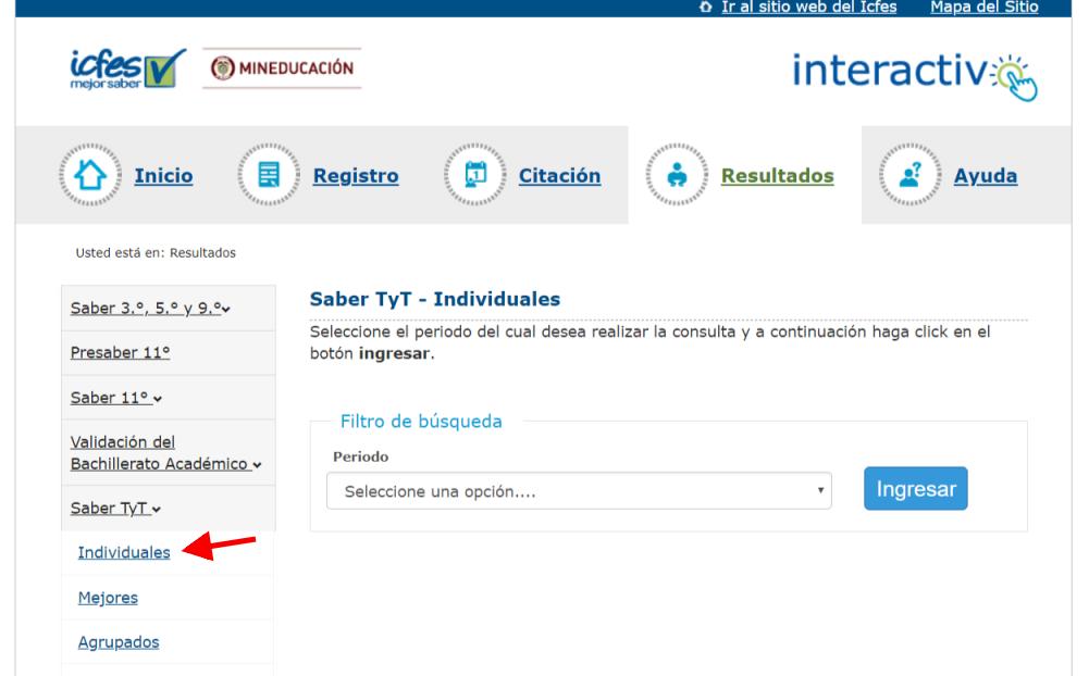 ICFES: Consultar resultados de exámenes por Internet 12