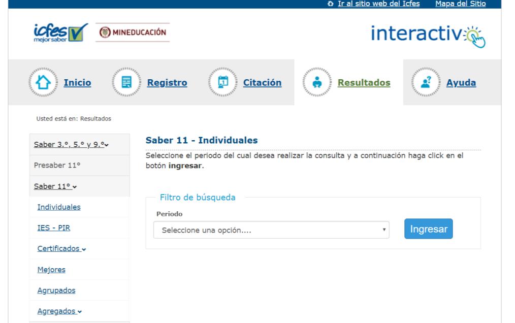 ICFES: Consultar resultados de exámenes por Internet 3