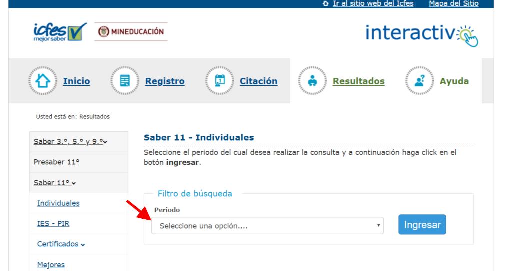 ICFES: Consultar resultados de exámenes por Internet 5