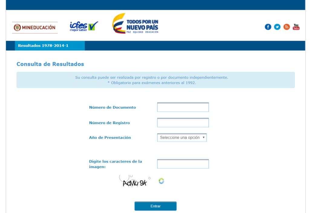 ICFES: Consultar resultados de exámenes por Internet 6