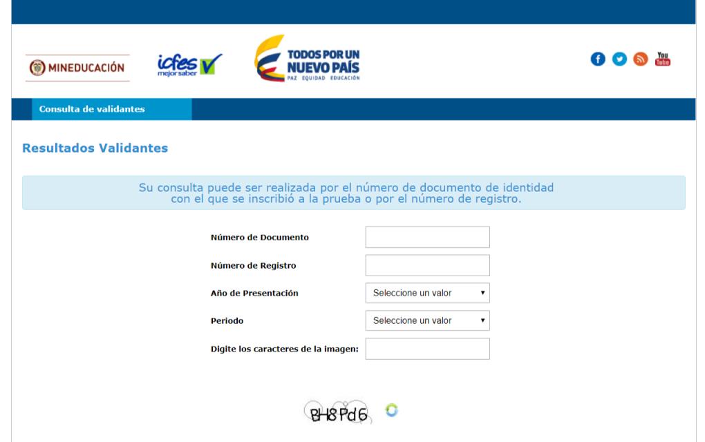 ICFES: Consultar resultados de exámenes por Internet 9