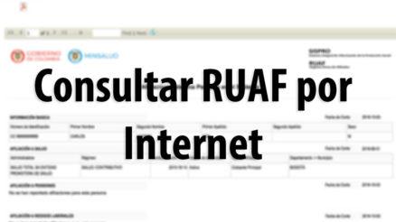 RUAF: Consulta de afiliaciones en salud, pensión o cesantías 4