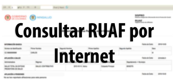 RUAF: Consulta de afiliaciones en salud, pensión o cesantías 1