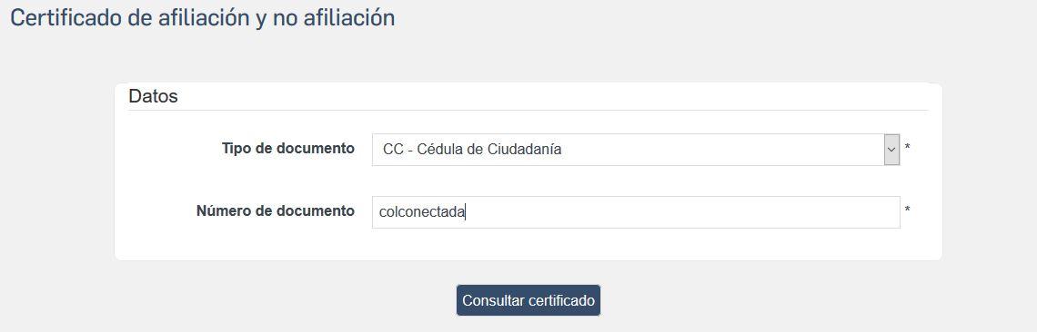 Certificado de afiliación Colpensiones en línea 2