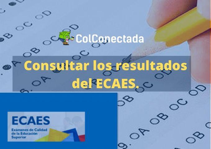 Consultar resultados del ECAES