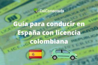 Manejar en España con pase colombiano