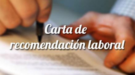 Carta de recomendación laboral: Plantilla 9