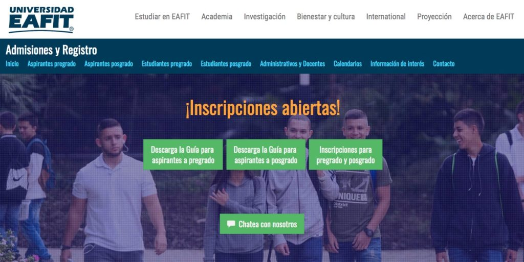 Universidad EAFIT: Inscripción y programas académicos 1