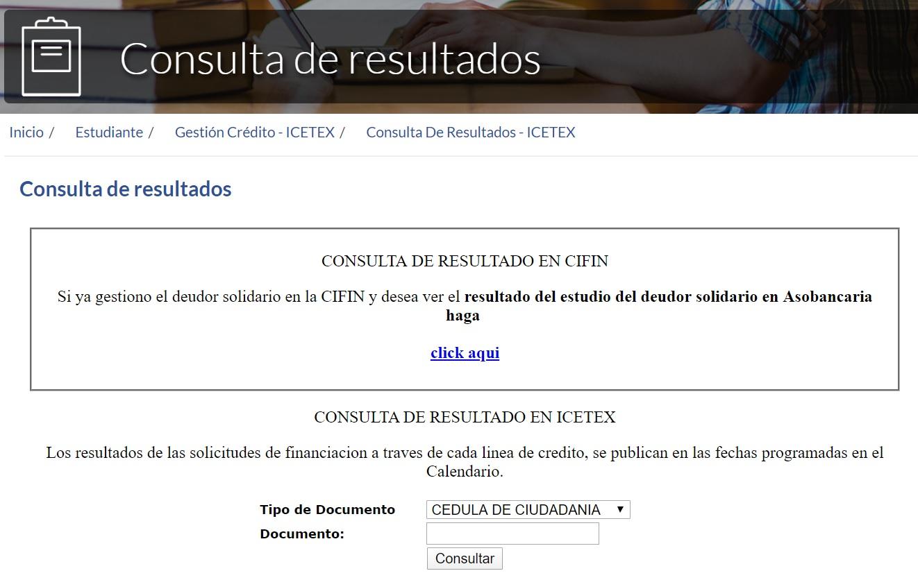 resultados del ICETEX