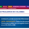 Becas para extranjeros en Colombia