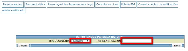 Certificado Contraloría