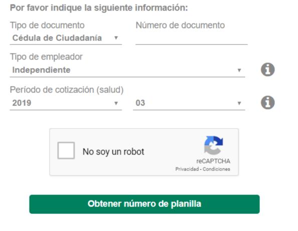 Certificado de aportes en línea