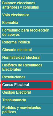 Consultar donde votar