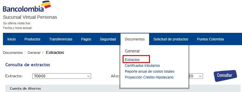 Cómo consultar sus extractos en Bancolombia 1