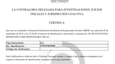 Resultado del certificado en PDF