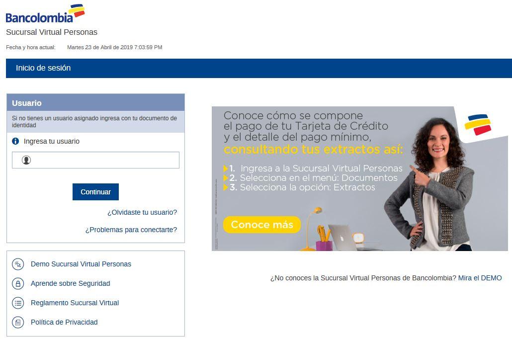 7d656a6cbb1 Vista previa de la plataforma de Bancolombia