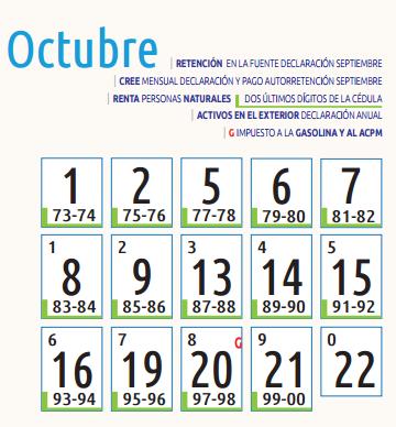 Octubre declaración de renta 2015