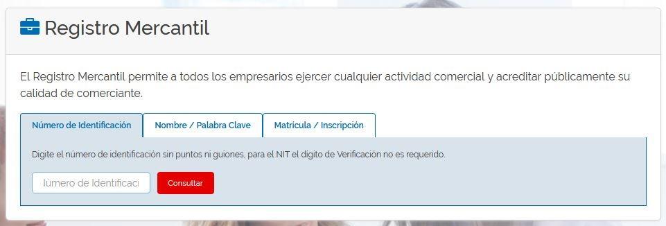 RUES: Consultar si una empresa está inscrita en Colombia 1