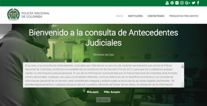 Consulta de certificado de antecedentes judiciales