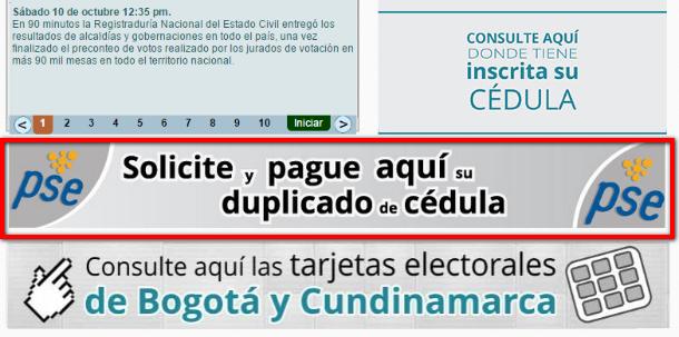 PSE Cédula Duplicado
