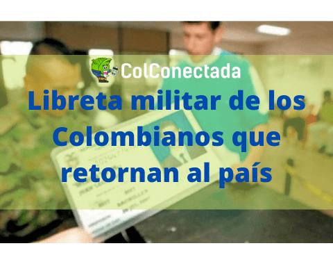 Libreta militar de los Colombianos residentes en el exterior 1