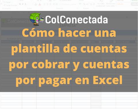 Plantilla Excel: Cuentas por cobrar y pagar 2