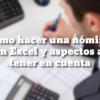 Cómo hacer una nómina en Excel y aspectos a tener en cuenta 6