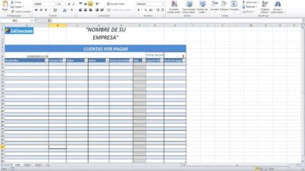 Plantilla Excel: Cuentas por cobrar y pagar 3