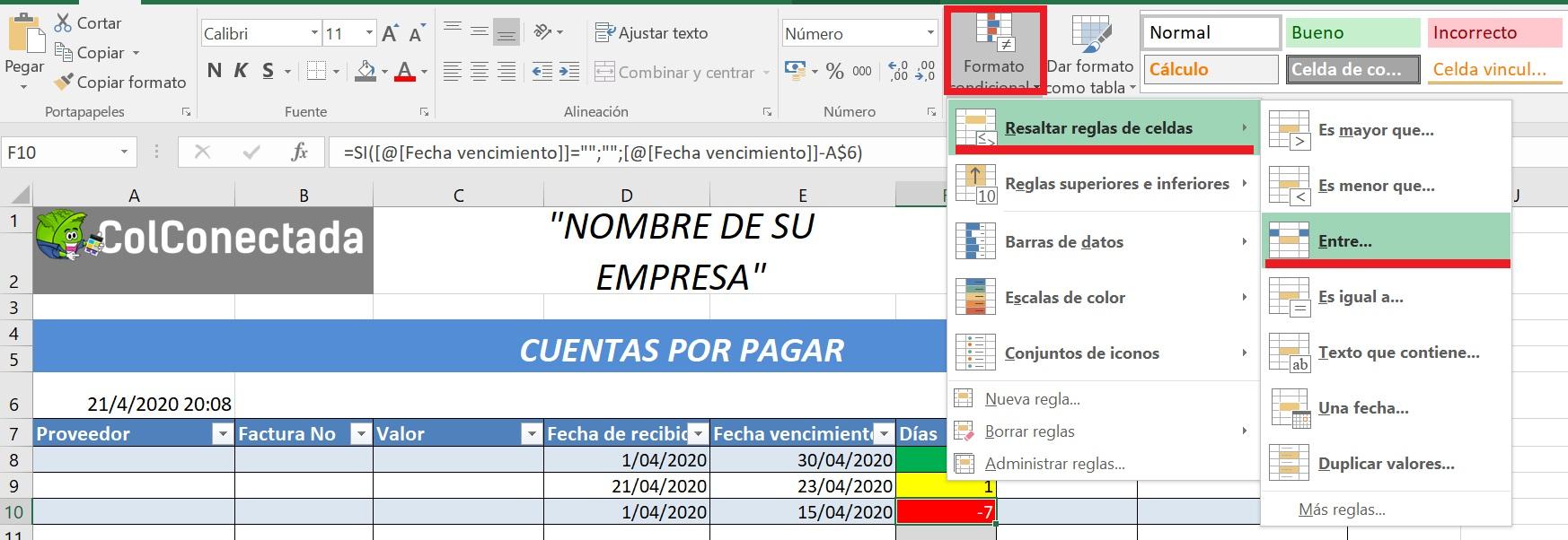 Plantilla Excel Cuentas Por Cobrar Y Pagar Actualizada 2021