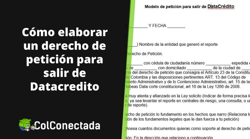 Derecho de petición para salir de Datacrédito 1