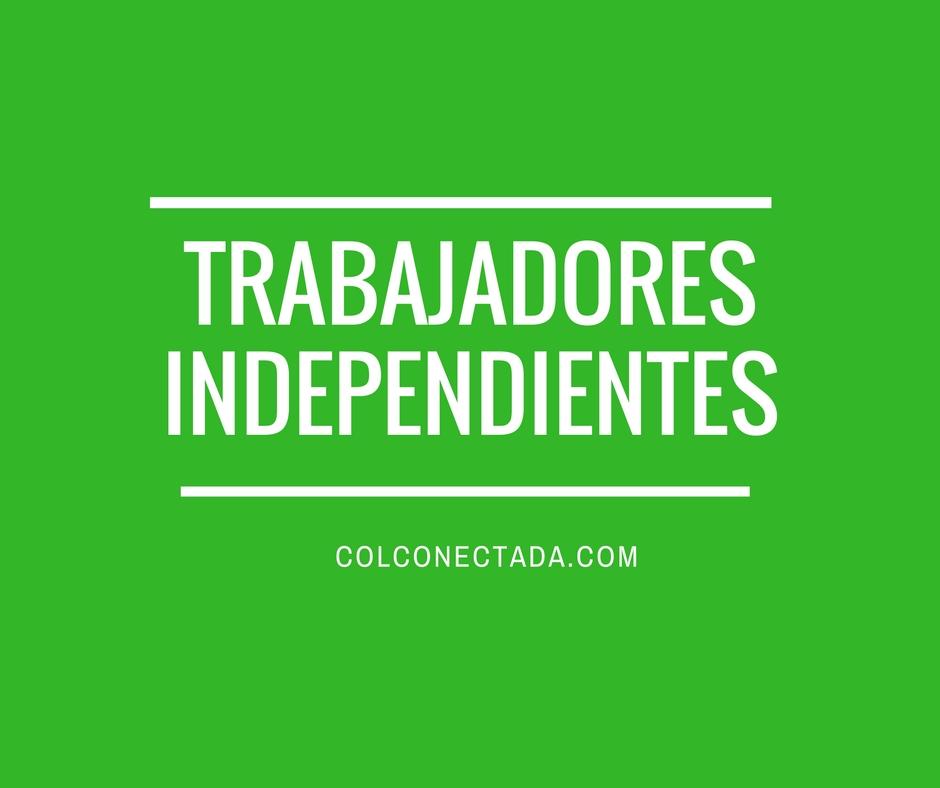 Trabajadores independientes